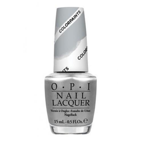 OPI Lacquer Silver Canvas P19 0.5 Oz