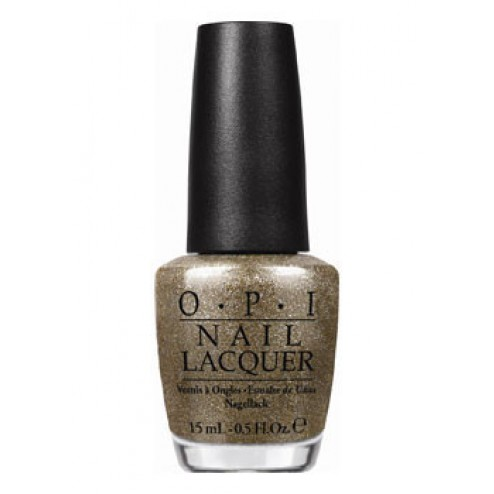 OPI Lacquer All Sparkly and Gold HLE13 0.5 Oz