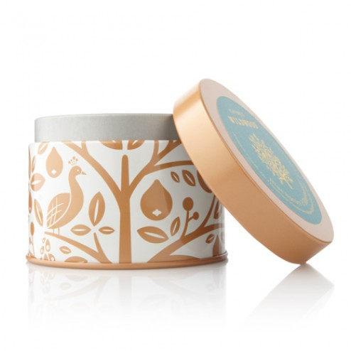 Thymes Blue Spruce and Elderberry Candle Tin