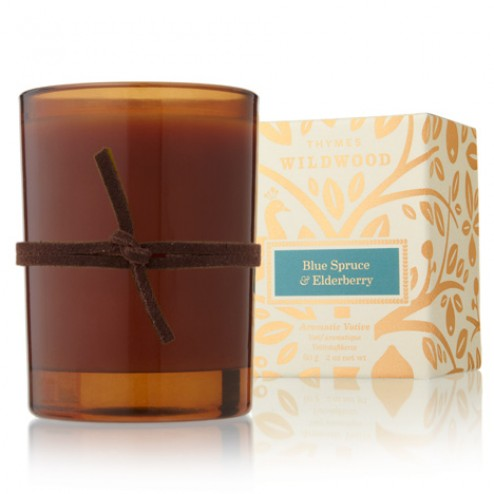 Thymes Blue Spruce and Elderberry Votive Candle
