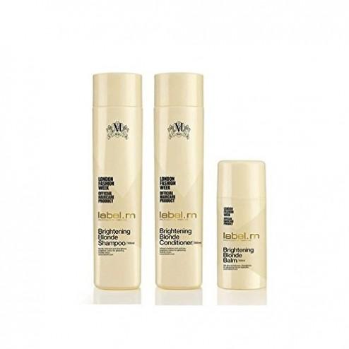 Label.M Brightening Blonde Shampoo10 Oz, Conditioner 10 Oz And Balm 3.4 Oz Bundle