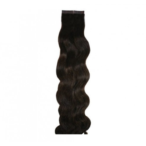 Aqua Hair Extensions Seamless Tape Body Wave Long
