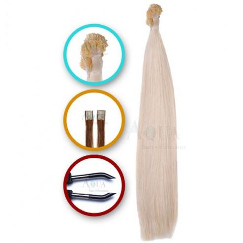 Aqua Hair Extensions Keratin Fusion Straight Long
