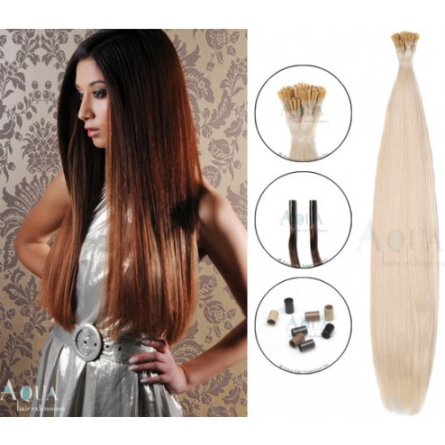 Aqua Hair Extensions Cylinder Straight Long 20 Inch