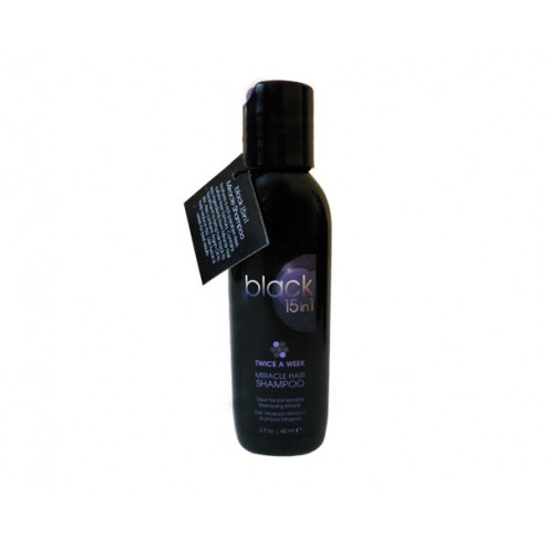 Black 15 in 1 Miracle Twice a Week Shampoo 2 Oz
