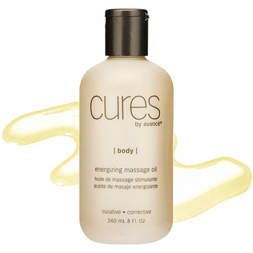 Cures by Avance Energizing Massage Oil 8 Oz