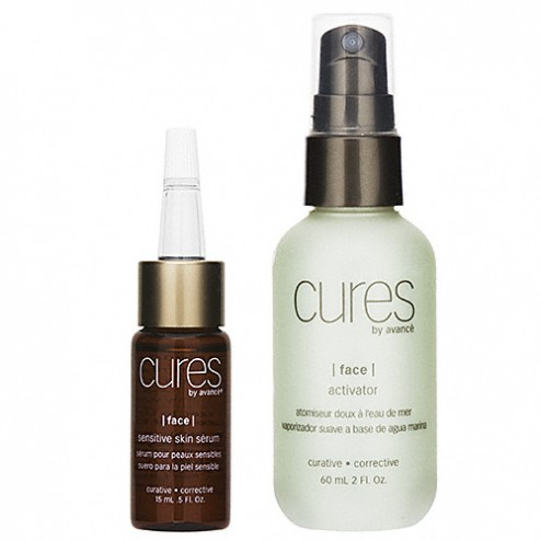 Cures by Avance Sensitive Skin Serum and Activator