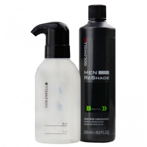 Goldwell Men ReShade Developer Concentrate with Innovative Foam Applicator Bottle