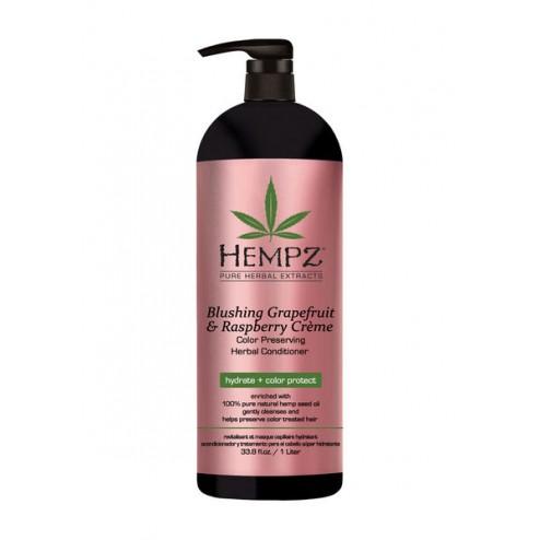 Hempz Blushing Grapefruit & Raspberry Crème Color-Preserving Conditioner 9 Oz