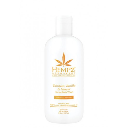 Hempz Tahitian Vanilla & Ginger Aromabody Herbal Body Wash 8 Oz