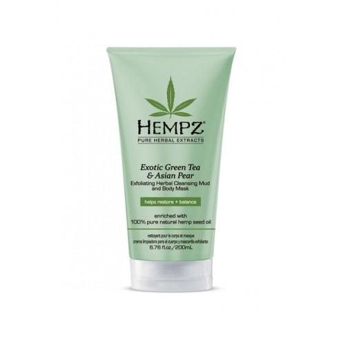 Hempz Exotic Green Tea & Asian Pear Exfoliating Herbal Cleansing Mud & Body Mask 6.7 Oz