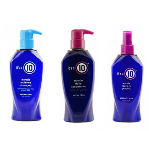 Its a 10 Miracle Moisture Shampoo 10 Oz, Daily Conditioner 10 Oz And Leave In Product 10 Oz