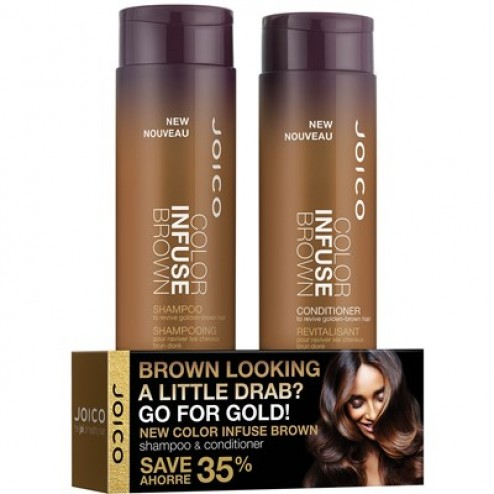Joico Color Balance Color Infuse Duo- Brown 10.1 Oz.