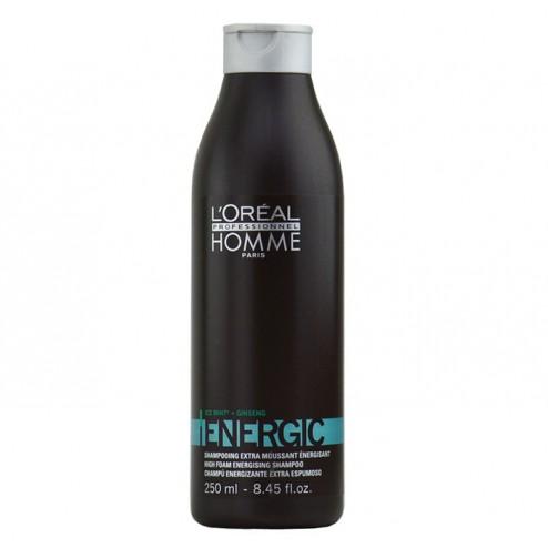 Loreal Homme Energic Energizing Shampoo 8.45 Oz