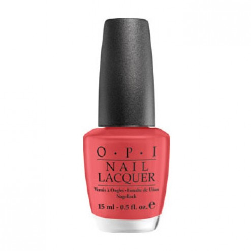 OPI NL B75 Paint My Moji toes Red