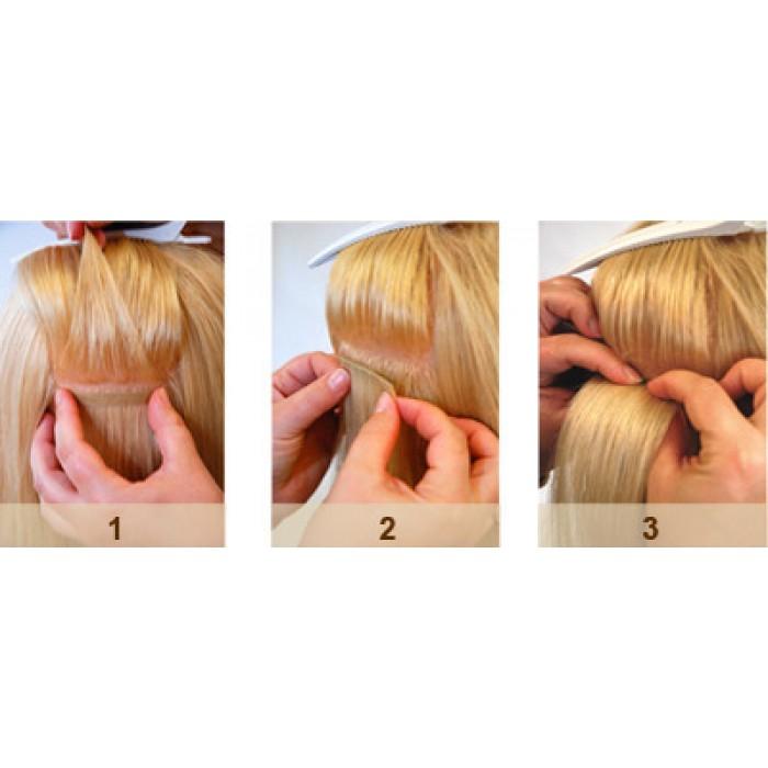 Aqua Hair Extensions Seamless Tape Straight Long