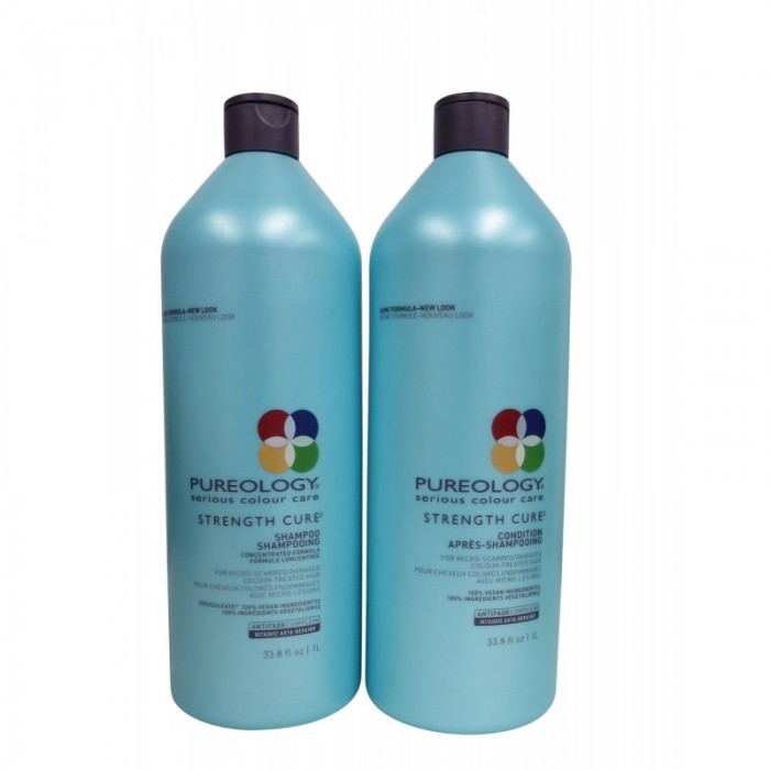Pureology Strength Cure Shampoo And Conditioner Duo (33.8 ...