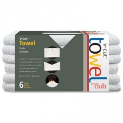 Product Club V-Cut Towels 6 pack - White