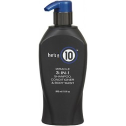He's a 10 Miracle 3-IN-1 Shampoo, Conditioner And Body Wash 10 Oz