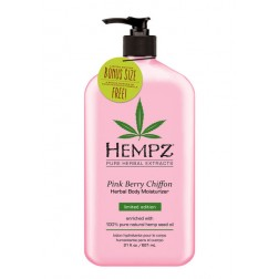 Hempz Pink Berry Chiffon Herbal Body Moisturizer 21 Oz