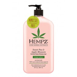 Hempz Sweet Pea & Apple Blossom Herbal Body Moisturizer 21 Oz