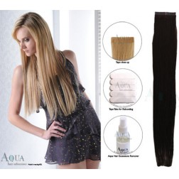 Aqua Hair Extensions Seamless Tape Straight