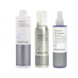 Brocato Cloud 9 Miracle Repair Shampoo 10 Oz, Mousse 5 Oz And Hotshapes Thermal Protection Spray 8.5 Oz