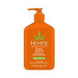 Hempz Yuzu & Starfruit Daily Herbal Body Moisturizer with SPF 30 8.5 Oz