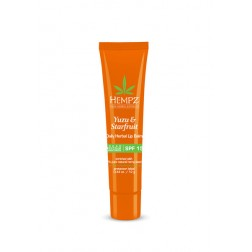Hempz Yuzu & Starfruit Daily Herbal Lip Balm with SPF 15