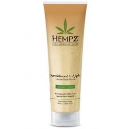 Hempz Sandalwood & Apple Herbal Body Scrub 9 Oz