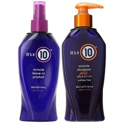 Its a 10 Miracle Leave-in Product 10 Oz And Shampoo Plus Keratin 10 Oz