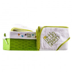 Little Green Baby Hooded Towel
