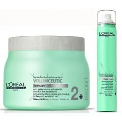 Loreal Volumetry Powder Fresh SOS Refreshing Spray 1.75 Oz And Masque 16.9 Oz