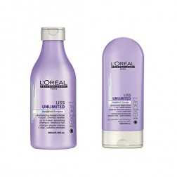 Loreal Serie Expert Liss Unlimited Shampoo 8.45 Oz And Conditioner 5 Oz