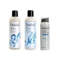 Ouidad Curl Quencher Moisturizing Shampoo 8.5 Oz, Conditioner 8.5 Oz And Hydrafusion Cream 5 Oz