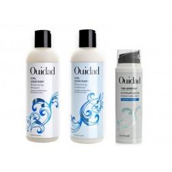 Ouidad Curl Quencher Moisturizing Shampoo 8.5 Oz, Conditioner 8.5 Oz And Hydrafusion Cream 5 Oz