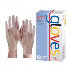 Product Club Clear Vinyl Gloves Powder Free 100 Ct