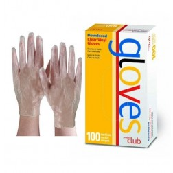 Product Club Clear Vinyl Gloves Powdered 100 Ct