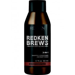 Redken Brews 3-in-1 Shampoo, Conditioner & Body Wash 1 Oz
