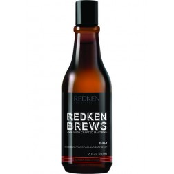 Redken Brews 3-in-1 Shampoo, Conditioner & Body Wash 10 Oz