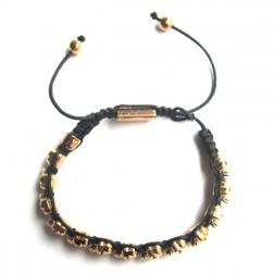 Zirconmania Vermeil Plated Alloy Skull Beads Bracelet