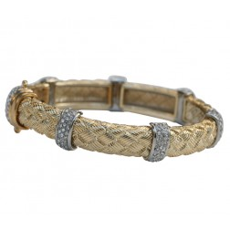 Zirconmania Textured Alloy Bracelet - Gold
