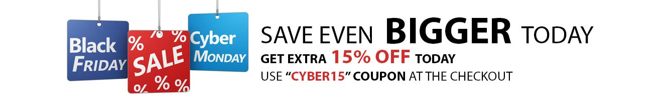 Cyber Monday Sale 15% Off