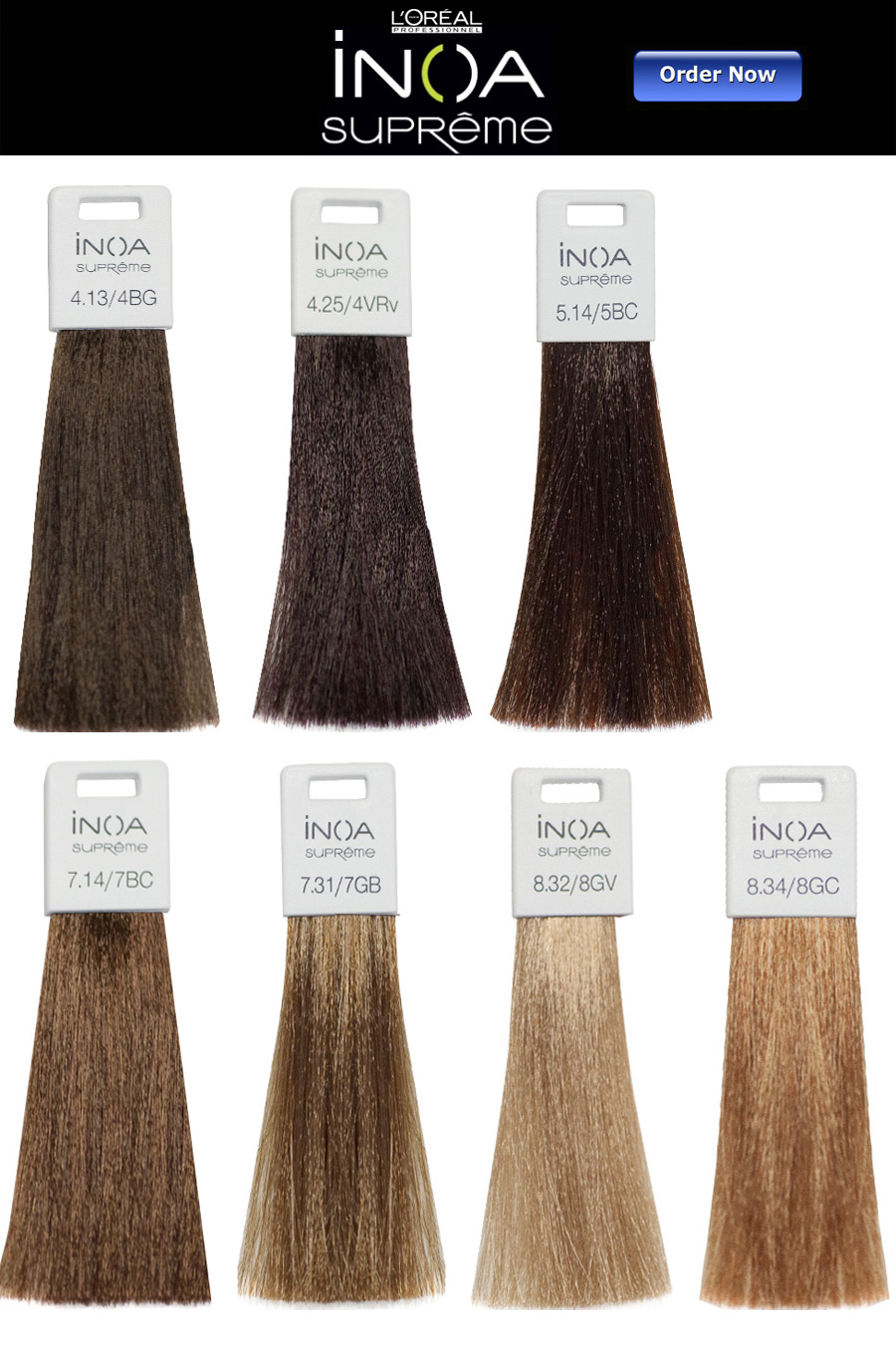 Loreal Inoa Supreme Hair Color Chart