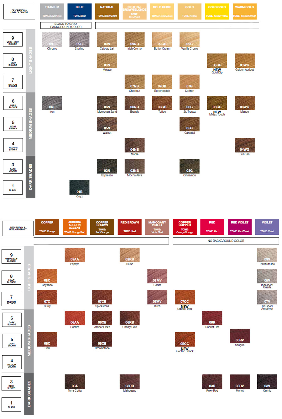 Shades Eq Color Gloss Color Chart